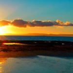 Ayr Beach Sunset